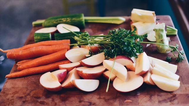 栄養素バランスに優れた食事の画像