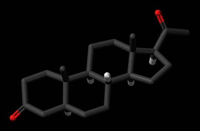 ホルモンの分子構造イメージ画像
